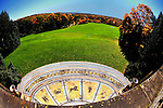 Landscape and golf course of Kykuit.  Rockefeller estate in Pocantico Hills, New York