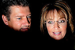 ATLANTA, GA-August 9, 2010: Former Alaska Governor and Vice President candidate Sarah Palin and her husband Todd Palin at a rally for Georgia Republican candidate Karen Handel at the Intercontinental Hotel in Buckhead.<br />