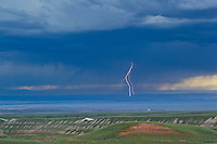 Lightning over the Bighorn Basin