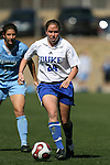 Duke's Rebekah Fergusson on Saturday, March 3rd, 2007 on Field 1 at SAS Soccer Park in Cary, North Carolina. The Duke University Blue Devils played the University of North Carolina Tarheels in an NCAA Division I Women's Soccer spring game.