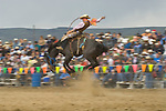 Saddle bronc riding, Jordan Valley Big Loop Rodeo..
