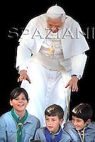 Bressanone,Pope Benedict XVI during his Angelus prayer in Aug.10,2008