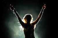 DOMINICANA, Santo Domingo, March 30, 2011.Colombia pop singer Shakira performs during her concert in The Sun Comes Out World Tour in Santo Domingo. VIEWpress / Eduardo Munoz Alvarez