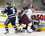 Austin Block (UNH - 3), Michael Sit (BC - 18), Scott Pavelski (UNH - 11), Michael Matheson (BC - 5) - The Boston College Eagles defeated the visiting University of New Hampshire Wildcats 5-2 on Friday, January 11, 2013, at Kelley Rink in Conte Forum in Chestnut Hill, Massachusetts.