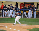 Mississippi's Zach Miller scores on a balk call vs. Florida at Oxford-University Stadium on Saturday, March 27, 2010 in Oxford, Miss. Ole Miss won 15-3.