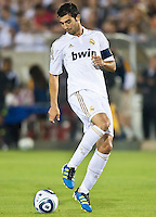 LOS ANGELES, CA – July 16, 2011: Raul Albiol (18) of Real Madrid  during the match between LA Galaxy and Real Madrid at the Los Angeles Memorial Coliseum in Los Angeles, California. Final score Real Madrid 4, LA Galaxy 1.