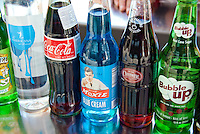 Vintage Soda Bottle Brands, Labels,  Pop and Soft Drinks,1950's, Bubble up, Moxie, Coca-Cola