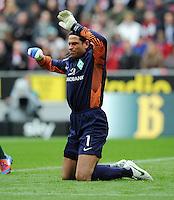 FUSSBALL   1. BUNDESLIGA   SAISON 2011/2012   29. SPIELTAG 1. FC Koeln - SV Werder Bremen                           07.04.2012 Torwart Tim Wiese (SV Werder Bremen)