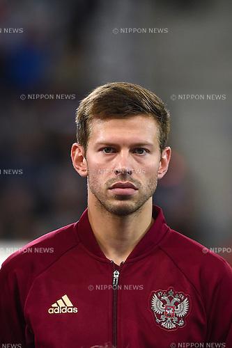 Fedor Smolov (Russia) ; <br /> June 15, 2016 - Football : Uefa Euro France 2016, Group B, Russia 1-2 Slovakia at Stade Pierre Mauroy, Lille Metropole, France. (Photo by aicfoto/AFLO)