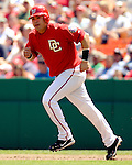 21 May 2006: Jose Vidro, second baseman for the Washington Nationals, runs to first during a game against the Baltimore Orioles at RFK Stadium in Washington, DC. The Nationals defeated the Orioles 3-1 to take 2 of 3 games in their first inter-league series...Mandatory Photo Credit: Ed Wolfstein Photo..