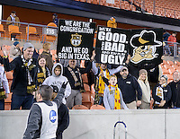 Houston, TX - Friday December 9, 2016: Wake Forest Demon Deacons fans at the NCAA Men's Soccer Semifinals at BBVA Compass Stadium in Houston Texas.