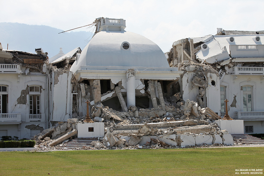 Presidential Palace in Port-au-Prince after the earthquake