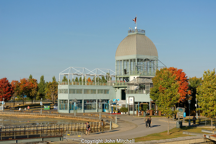 The Pavillion du bassin Bonsecours in the Old Port of Montreal, Quebec, Canada