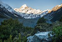 Aoraki,Mount Cook, Aoraki, Mt. Cook National Park, Mackenzie Country, UNESCO World Heritage Area, South Island, New Zealand, NZ