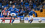 St Johnstone v Kilmarnock.....09.11.13     SPFL<br /> Stevie May scores from the penalty spot to make it 3-0<br /> Picture by Graeme Hart.<br /> Copyright Perthshire Picture Agency<br /> Tel: 01738 623350  Mobile: 07990 594431