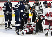 Charlie Curti (Yale - 23), Billy Sweezey (Yale - 6), Ryan Donato (Harvard - 16) - The Harvard University Crimson tied the visiting Yale University Bulldogs 1-1 on Saturday, January 21, 2017, at the Bright-Landry Hockey Center in Boston, Massachusetts.