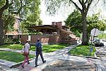 Landmark building by Frank Lloyd Wright in Chicago, Illinois, USA