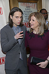 Jordan Roth and Arianna Huffington attends the Broadway Opening Night Performance of  'Indecent' at The Cort Theatre on April 18, 2017 in New York City.