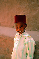 Young boy, Glaoui Kasbah (Taourirt), Ouarzazate, Morocco