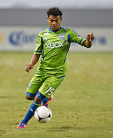 CARSON, CA - August 25, 2012: Seattle midfielder Mario Martinez (15) during the Chivas USA vs Seattle Sounders match at the Home Depot Center in Carson, California. Final score, Chivas USA 2, Seattle Sounders 6.
