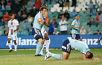 Sydney FC Alessandro Del Piero reacts during his A-League match against Perth Glory in Sydney, April 13, 2014. Photo by Daniel Munoz/VIEWPRESS EDITORIAL USE ONLY