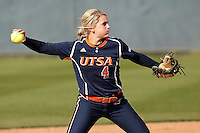SAN ANTONIO, TX - MARCH 30, 2013: The San Jose State University Spartans versus the University of Texas at San Antonio Roadrunners Softball at Roadrunner Field. (Photo by Jeff Huehn)