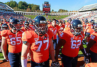 Oct. 15, 2011-Charlottesville, VA.-USA- Virginia Cavaliers players head for the locker room before the start of an ACC football game against Georgia Tech at Scott Stadium. Virginia won 24-21. (Credit Image: © Andrew Shurtleff)