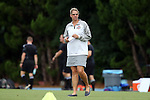 22 August 2014: Ohio State head coach Lori Walker. The Duke University Blue Devils played The Ohio State University Buckeyes at Fetzer Field in Chapel Hill, NC in a 2014 NCAA Division I Women's Soccer match. Ohio State won the game 1-0.