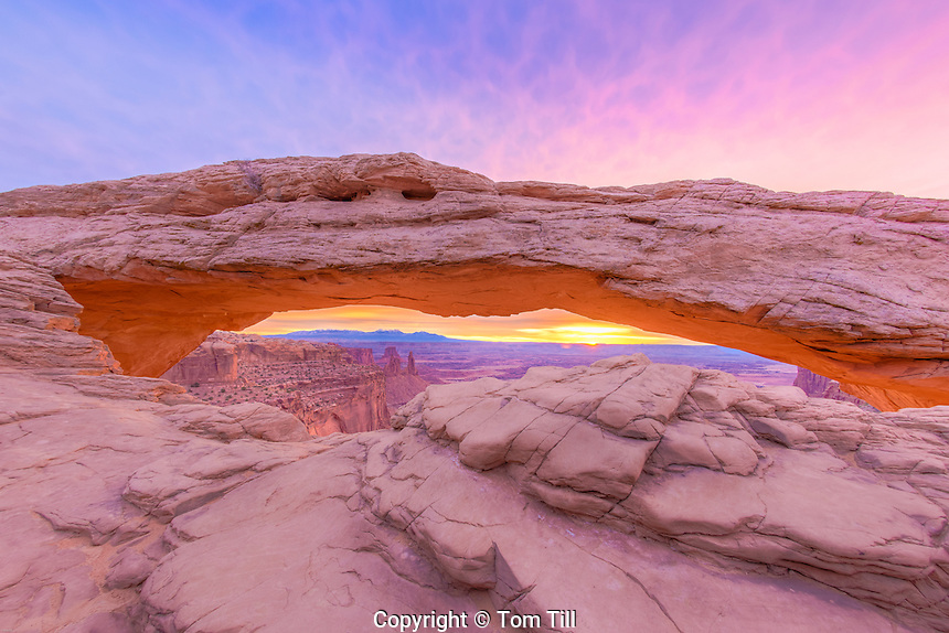 Mesa Arch at sunrise, Canyonlands National Park, Utah  Island in the Sky District