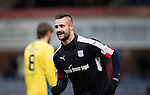 Dundee v St Johnstone&hellip;.31.12.16     Dens Park    SPFL<br />Marcus Haber celebrates Steven Anderson&rsquo;s own goal<br />Picture by Graeme Hart.<br />Copyright Perthshire Picture Agency<br />Tel: 01738 623350  Mobile: 07990 594431