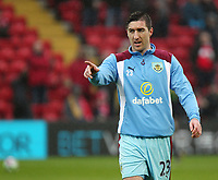 Burnley's Stephen Ward during the pre-match warm-up <br /> <br /> Photographer Rich Linley/CameraSport<br /> <br /> The Premier League - Liverpool v Burnley - Sunday 12 March 2017 - Anfield - Liverpool<br /> <br /> World Copyright &copy; 2017 CameraSport. All rights reserved. 43 Linden Ave. Countesthorpe. Leicester. England. LE8 5PG - Tel: +44 (0) 116 277 4147 - admin@camerasport.com - www.camerasport.com