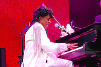 Legendary musician Little Richard performs in New Orleans Saturday May 30,2009 as part of the Domino Effect Benefit concert which also featured B.B. King and Chuck Berry. Domino Effect Benefit Concert legendary performers gather in New Orleans at the Arena to raise funds and awarness for hurricane Katrina rebuilding for Fats Domino the Tipatina Foundation and the Drew Brees' foundation. Photo&copy;Suzi Altman ALL IMAGES &copy;SUZI ALTMAN. IMAGES ARE NOT PUBLIC DOMAIN. CALL OR EMAIL FOR LICENSE, USE, OR TO PURCHASE PRINTS 601-668-9611 OR EMAIL SUZISNAPS@AOL.COMPhoto&copy;Suzi Altman