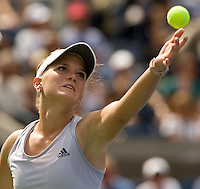 Melanie Oudin (USA) against Nadia Petrova (RUS) (13) in the 4th round. Oudin beat Petrova 1-6 7-6 6-3 ..International Tennis - US Open - Day 8 Mon 07 Sep 2009 - USTA Billie Jean King National Tennis Center - Flushing - New York - USA ..© Frey Images, Barry House 20-22 Worple Road, London, SW19 4DH..Tel - +44 208 947 0100.Cell - +44 7843 383 012