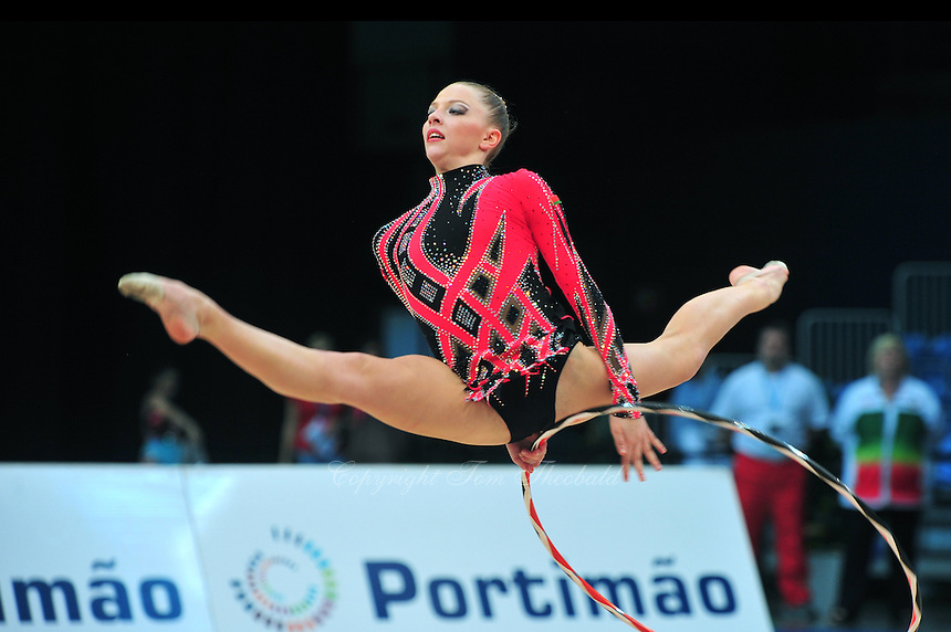 Melitina Staniouta of Belarus performs at 2011 World Cup at Portimao, Portugal on April 29, 2011.