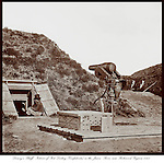 Drewry's Bluff, Interior of Fort Darling part of the Confederate defenses of Richmond, Virginia. East of Richmond on the James River circa 1865.