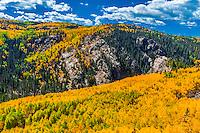 USA-Colorado-Cumbres & Toltec Scenic Railroad-Autumn-Scenery from train