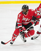 Kenny Gillespie (RPI - 8) - The Harvard University Crimson defeated the visiting Rensselaer Polytechnic Institute Engineers 5-2 in game 1 of their ECAC quarterfinal series on Friday, March 11, 2016, at Bright-Landry Hockey Center in Boston, Massachusetts.