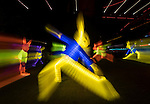 Tai Chi Rabbits - 2017 Chinese New Year Celebrations in Sydney, Lunar Lanterns Festival across the city cbd. Year of the Rooster, Sydney, NSW, Australia