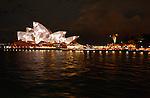 Sydney's festival of light: Vivid Sydney feature the lighting of the iconic Sydney Opera House sails.