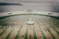 Outdoor swimming pool, Plymouth, processed to emulate wet plate technique.