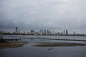 The Mumbai skyline as seen from the outskirts of Mumbai city.