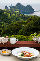 A seafood lunch overlooking the beautiful Dogashima Coast