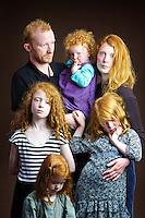 Clockwise from top left: Steven McKay (37), Esther (2),  Rebecca (33), Chloe (6), Lois (3) and Abigail (7).<br /> <br /> Steven McKay, 37, from Perth.<br /> <br /> 'People make judgements about your character by your hair colour&hellip; Throughout life it has been helpful in developing character, I was bullied at school and thought it was because of my red hair but it was probably because I was annoying, I would use my hair as an excuse.'<br /> <br /> 'Before kids people would ask if we were brother and sister which is outrageous! It's gingerism! They think all people with ginger hair look the same&hellip; I said to myself The next person who says that I will lamp [punch] them but then it was a church minister so I reneged on my vow.'<br /> <br /> Rebecca McKay, 33, stay at home mum, from Perth.<br /> <br /> At the library people come up and say You must hear this all the time but I have to say. I lived in Colombia for a year and people thought my hair was dyed.'<br /> <br /> 'I am one of five and all have it but not as bright as mine. It's not sought after or admired. There is an Irn Bru advert where they are shouting at red-hairs kids and she drinks it with the slogan Irn Bru gets you through! I think my four daughters are wonderful as God made them and I am content with what God has given them.'