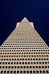 Looking up at TransAmerica Pyramid downtown San Francisco, California USA