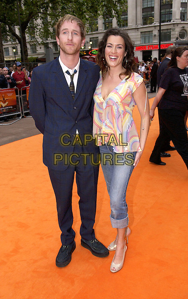 "PAUL KAYE & KATE MAGOWAN.UK Premiere of ""It's All Gone Pete Tong"",.Empire Leicester Square, London, May 26th 2005..full length matthew williamson stars rainbow patterned top.Ref: DH.www.capitalpictures.com.sales@capitalpictures.com.©David Hitchens/Capital Pictures."