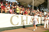 Apr. 1, 2006; Rancho Mirage, CA, USA; KarrieWebb walks in front of the grandstand on the 18th hole during the 3rd round of the Kraft Nabisco Championship at Mission Hills Country Club. ..Mandatory Photo Credit: Darrell Miho.Copyright © 2006 Darrell Miho .