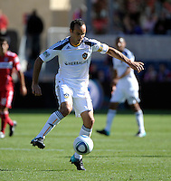 LA Galaxy forward Landon Donovan (10) controls the ball.  The LA Galaxy tied the Chicago Fire 1-1 at Toyota Park in Bridgeview, IL on September 4, 2010