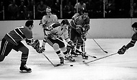 Seals vs Montreal Canadiens,1971 Dennis Hextall (photo/Ron Riesterer)