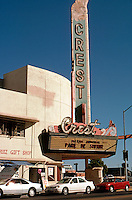 Movie Theatre: Fresno CA. Crest Theater, 1940. SE Corner of Broadway & Fresno. Photo 2000.