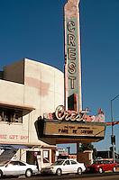 Movie Theatre: Fresno CA. Crest Theater, 1940. SE Corner of Broadway & Fresno. Photo 2000.